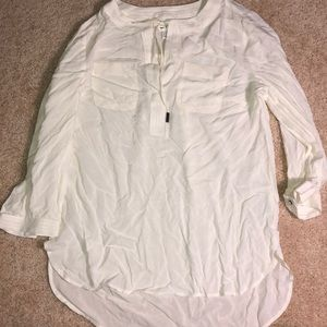 STYLUS (JCP) - White quarter sleeve blouse NWOT